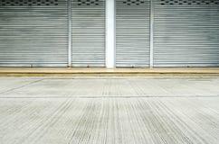 Corrugated metal sheet,Slide door ,Roller shutter texture Royalty Free Stock Photos