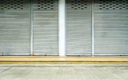 Corrugated metal sheet,Slide door ,Roller shutter texture Royalty Free Stock Photography