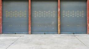 Corrugated metal sheet,Slide door ,Roller shutter texture Stock Images