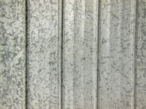 Corrugated metal sheeting for background. Closeup of corrugated metal sheeting for background Stock Photos