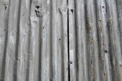 Corrugated metal sheeting for background Royalty Free Stock Images