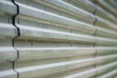 Corrugated metal surface. Stock Images