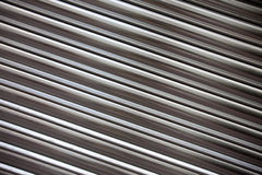 Corrugated metal surface Stock Photo