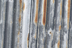 Corrugated Metal, Vertical Lines. Royalty Free Stock Photo