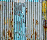 Corrugated metal wall Stock Image