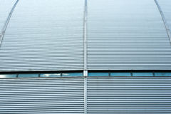 Corrugated metal wall. Details of the corrugated metal wall stock photos