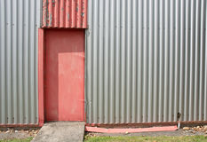 Corrugated metal wall Royalty Free Stock Images