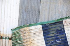 Corrugated metal wall Royalty Free Stock Image