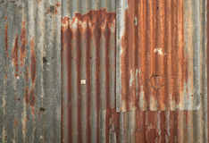 Corrugated metal wall texture Stock Images