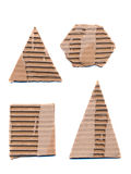 Corrugated package paper forms isolated on white Royalty Free Stock Photo
