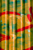 Corrugated painted metal wall Stock Image