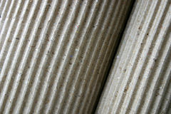 Corrugated paper, rolled-up, close-up Royalty Free Stock Images