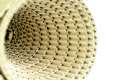 Corrugated paper rolls. Corrugated paper rolls that have beautiful designs and different Royalty Free Stock Images