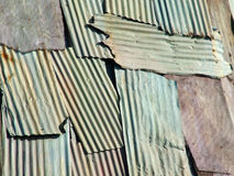 Corrugated Patch. Corrugated slab wall royalty free stock images