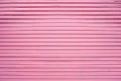 Corrugated pink metal sheet Royalty Free Stock Images
