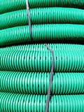 Corrugated pipe Stock Photo