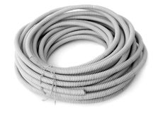 Corrugated pipe for the cable Stock Image