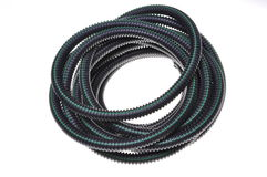 Corrugated pipe for electrical cables Stock Photography