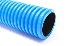 Corrugated pipe for electrical voltage cable Royalty Free Stock Images