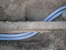Corrugated pipe Royalty Free Stock Image