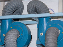 Corrugated pipe. Stock Photography