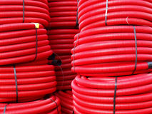 Corrugated pipes Royalty Free Stock Photography