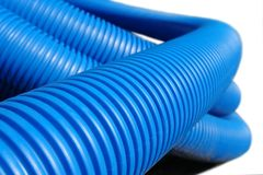 Corrugated plastic pipe Royalty Free Stock Images