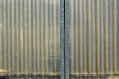 Corrugated plastic texture Royalty Free Stock Images
