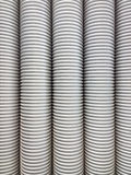 Corrugated plumbing pipe Stock Images