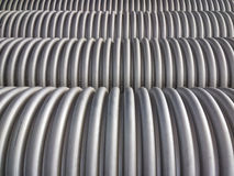 Corrugated plumbing pipe Royalty Free Stock Photos