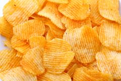 Corrugated potato chips Stock Images