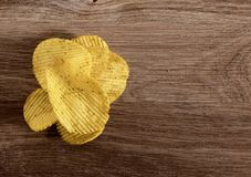 Corrugated potato chips stock photography