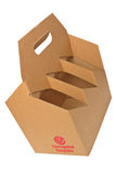 Corrugated recycle bottle carrier Royalty Free Stock Photography