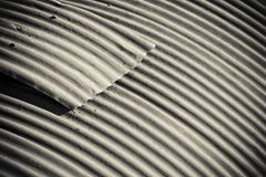 Corrugated roofing Royalty Free Stock Photo