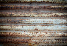 Corrugated rusty metal for background Stock Photos