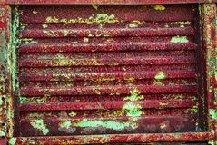 Corrugated Rusty Metal Panel Stock Image