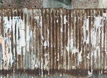 Corrugated rusty metal Stock Image