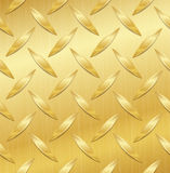Corrugated Seamless Background. Good For Web Design. Realistic Corrugated Gold Plate Illustration. Polished, Brushed Texture. Royalty Free Stock Photography