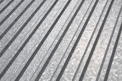 Corrugated sheet geometric pattern Royalty Free Stock Image