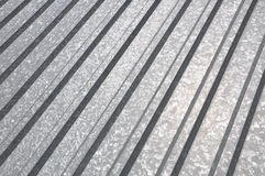Corrugated sheet geometric pattern Royalty Free Stock Photo