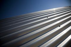 Corrugated sheet iron Stock Photography