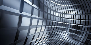 Corrugated sheet metal, reflecting light. An abstract background in the form of three-dimensional model of corrugated sheet metal, reflecting light Royalty Free Stock Photos