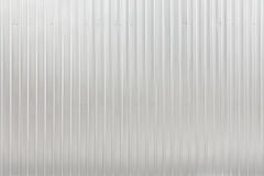 Corrugated sheet metal. Reflecting light stock photo