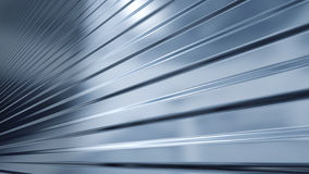 Corrugated sheet metal, reflecting light Royalty Free Stock Image