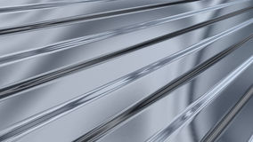 Corrugated sheet metal, reflecting light Stock Image