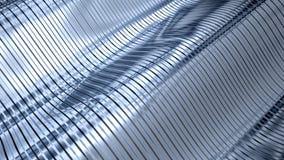 Corrugated sheet metal, reflecting light Stock Images