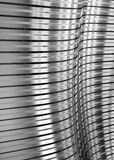 Corrugated sheet metal, reflecting light Royalty Free Stock Images