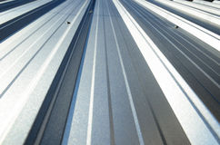 Corrugated sheet perspective and geometry Royalty Free Stock Images