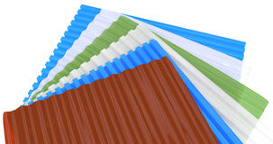 Corrugated sheets Stock Photo