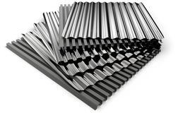 Corrugated sheets Royalty Free Stock Image